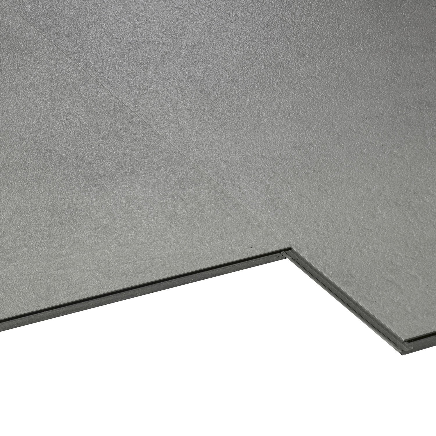 Dalle pvc clipsable gris clair styling aero city leroy for Carrelage clipsable