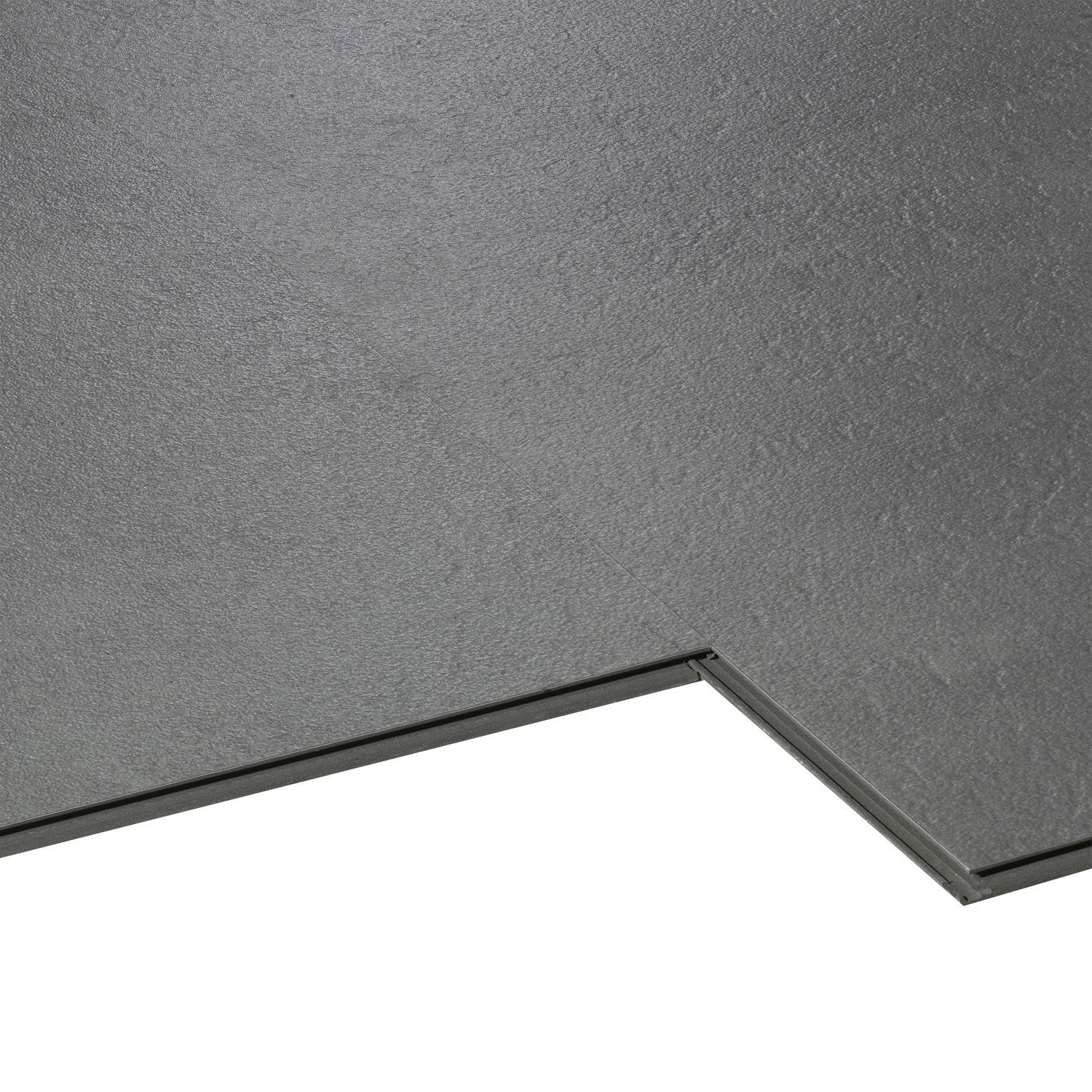 Dalle pvc clipsable gris styling aero city leroy merlin for Carrelage pour garage leroy merlin