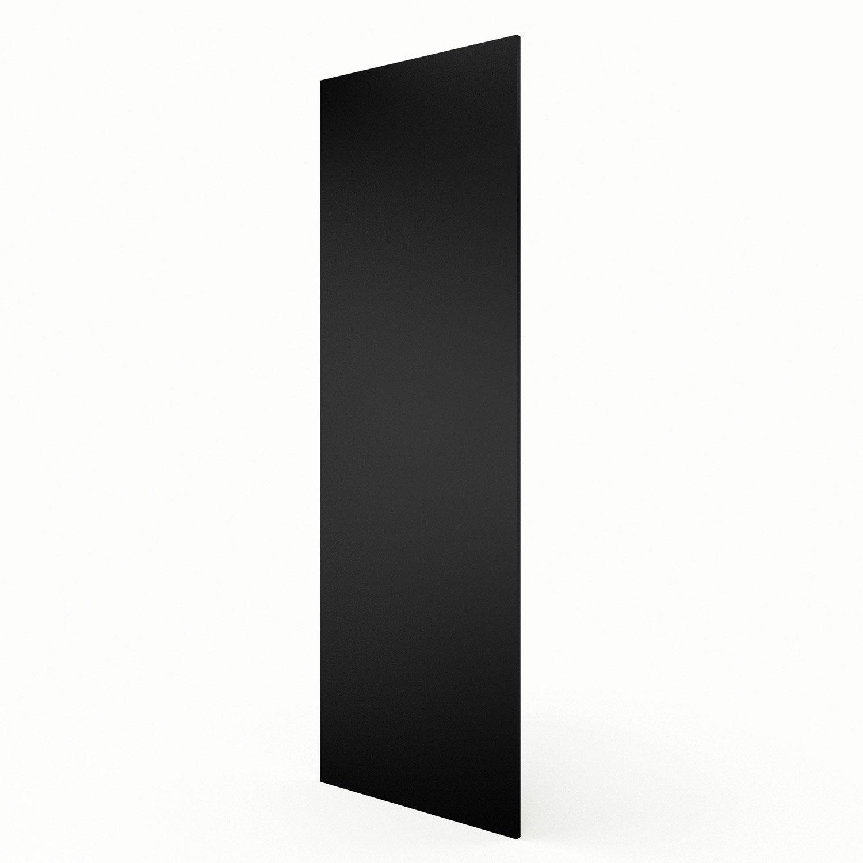 joue colonne de cuisine noir mat edition l65 x h200 cm leroy merlin. Black Bedroom Furniture Sets. Home Design Ideas