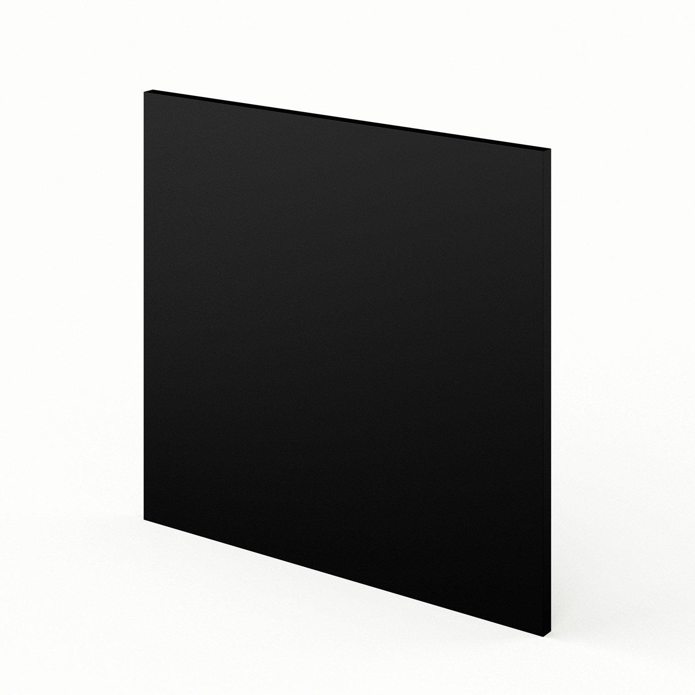 Porte lave vaisselle de cuisine noir mat edition x h for Peinture cuisine noir mat