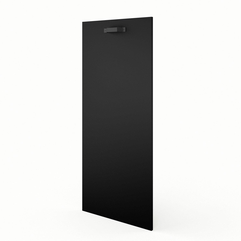 Porte 1 2 colonne de cuisine noir mat edition x h for Porte 60 x 30