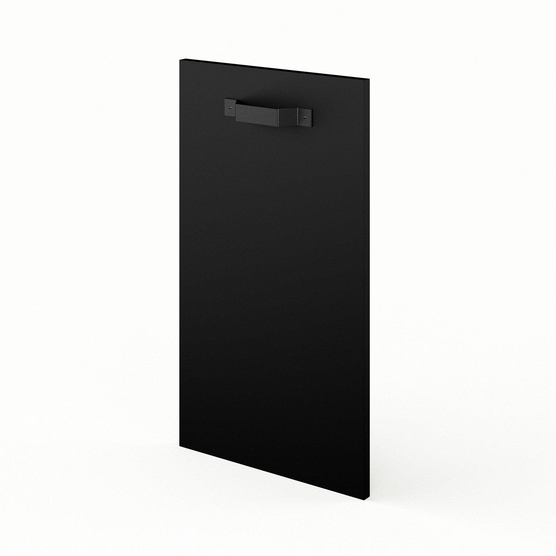 Porte de cuisine noir mat edition x cm leroy for Porte 70 cm de large