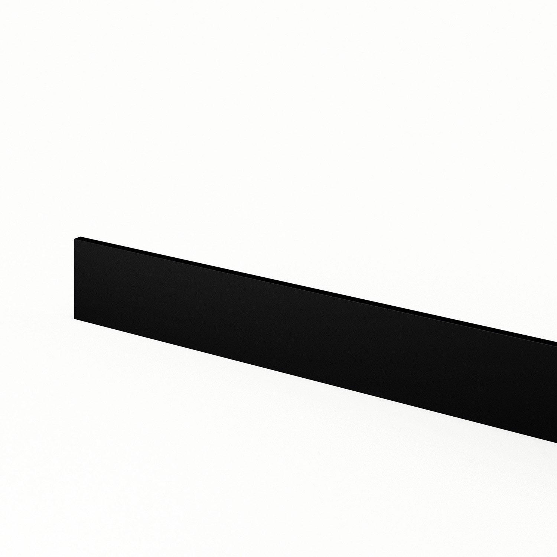plinthe de cuisine noir mat edition l 270 x h 14 9 cm leroy merlin. Black Bedroom Furniture Sets. Home Design Ideas