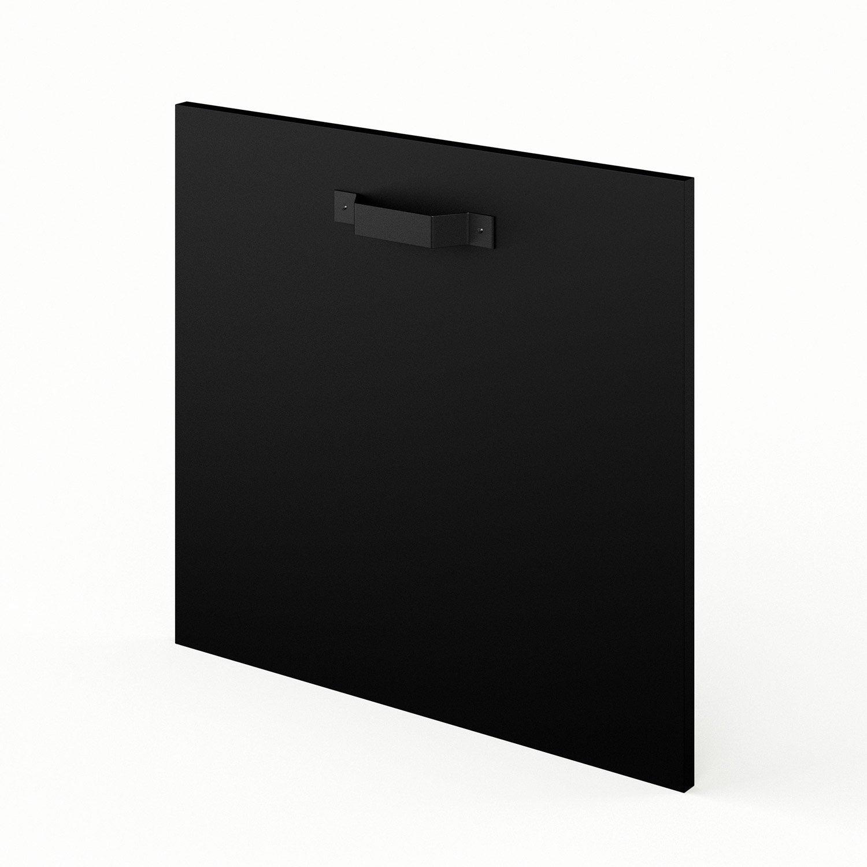 porte de cuisine noir f60 54 mat edition l60 x h54 3 cm leroy merlin. Black Bedroom Furniture Sets. Home Design Ideas