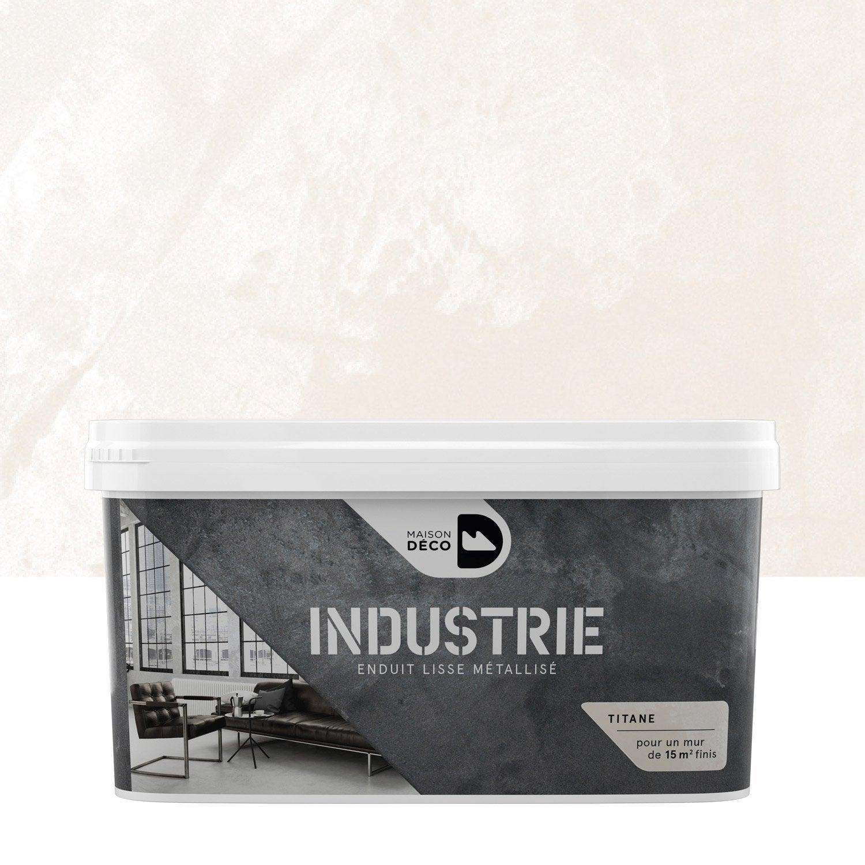 Peinture effet industrie maison deco titane 4 kg for Peinture carrelage sol leroy merlin