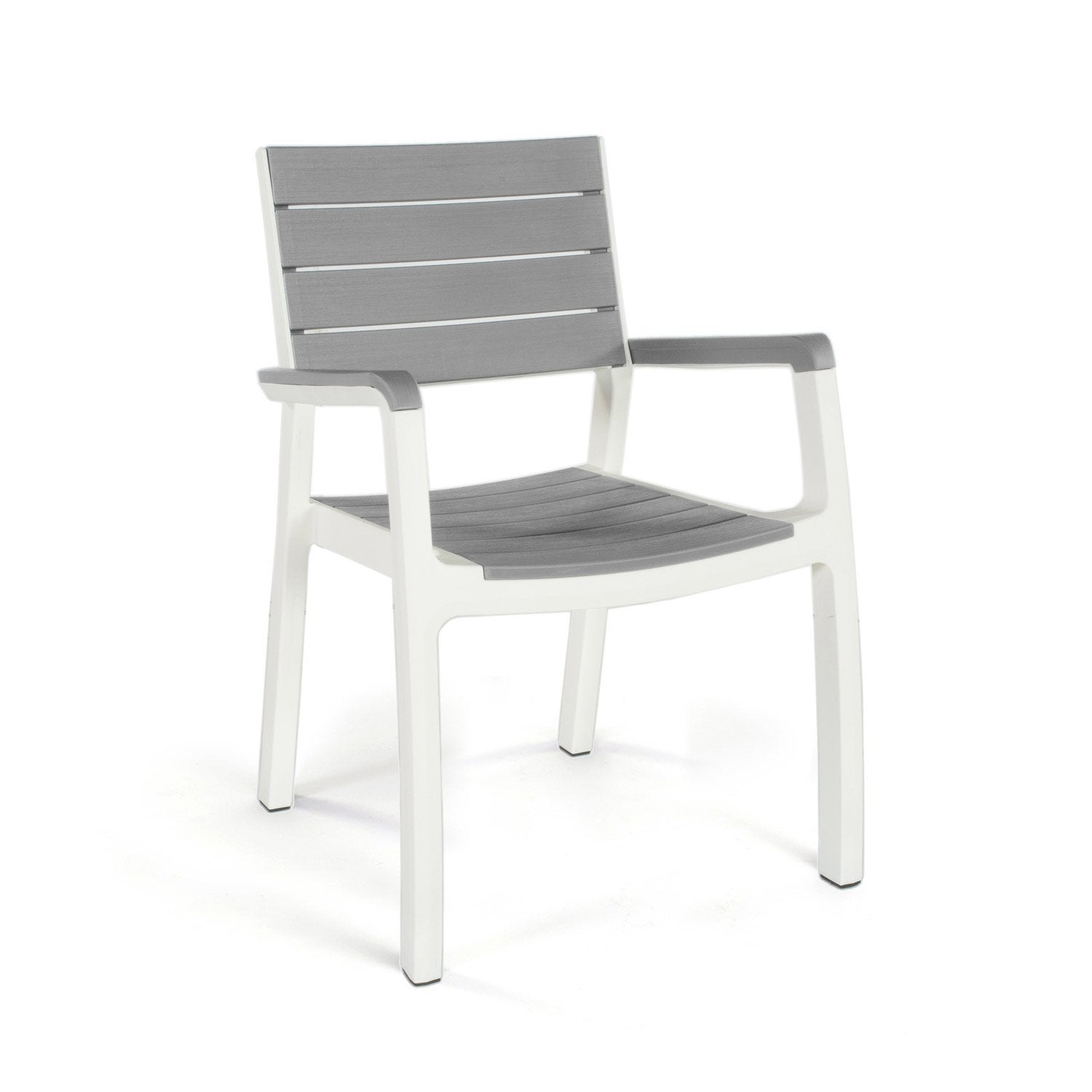 fauteuil de jardin en r sine harmony gris blanc leroy merlin. Black Bedroom Furniture Sets. Home Design Ideas