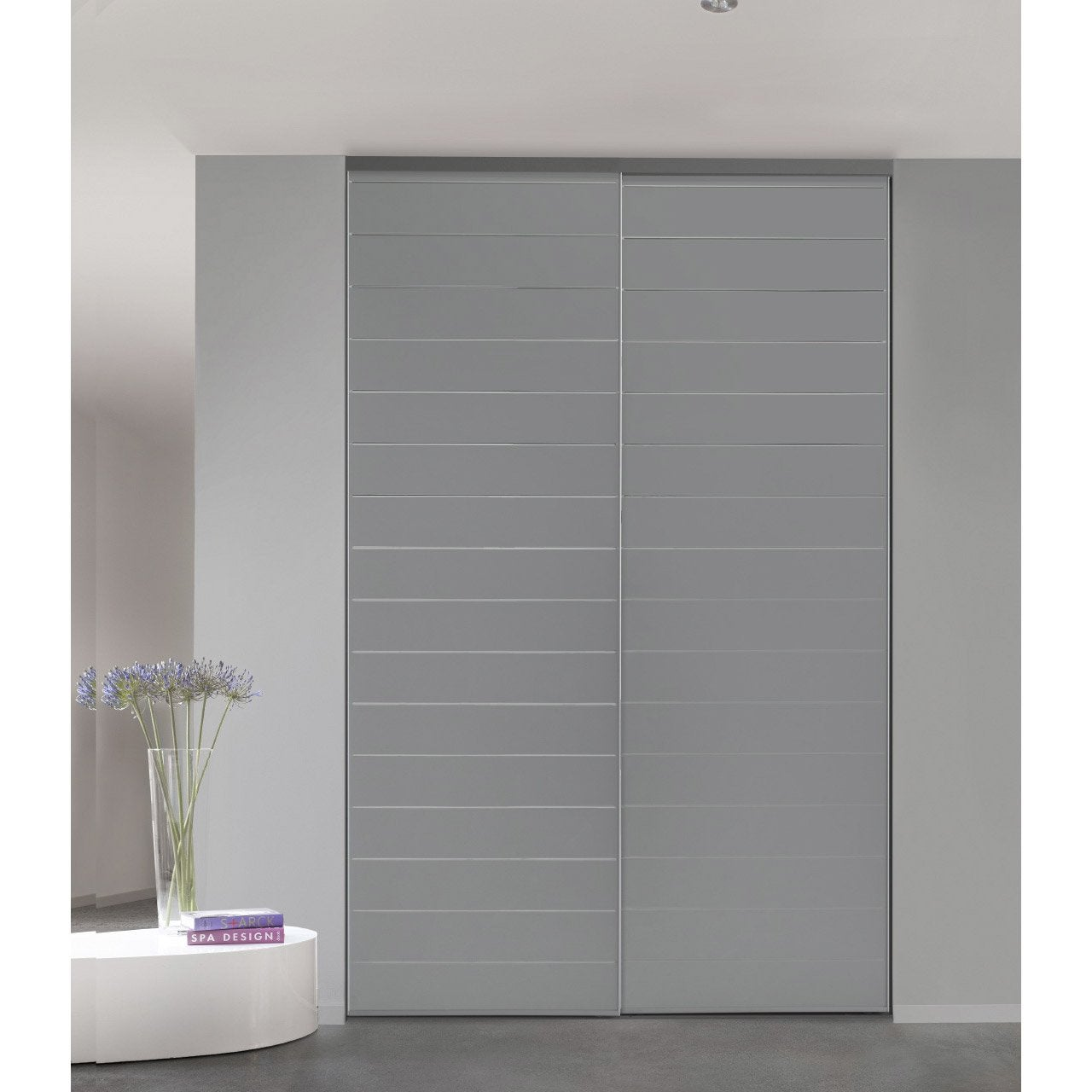 Porte de placard coulissante sur mesure optimum uno de 60 for Porte 60 cm leroy merlin