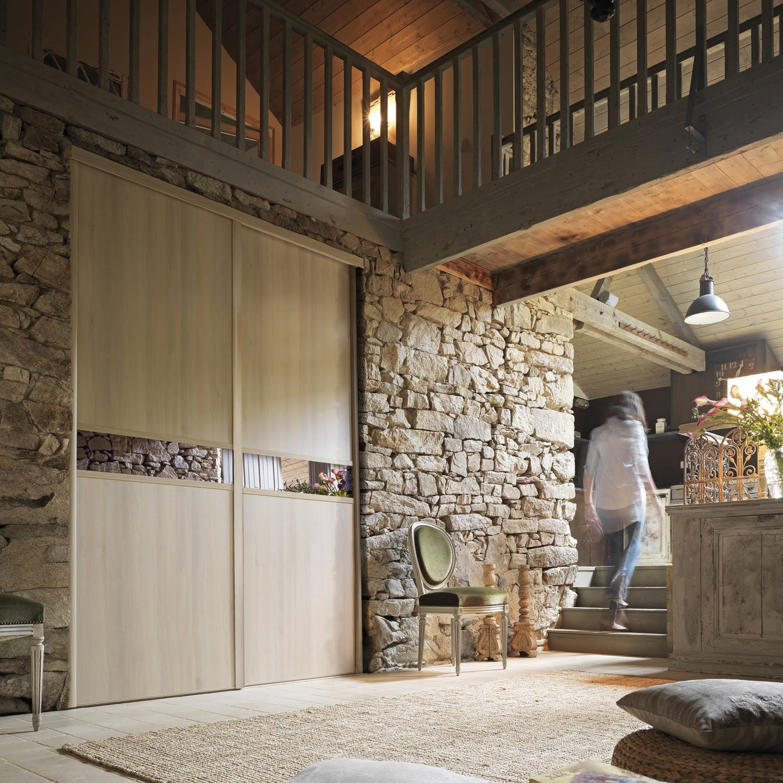porte de placard coulissante sur mesure optimum adagio de 60 1 80 cm leroy merlin. Black Bedroom Furniture Sets. Home Design Ideas