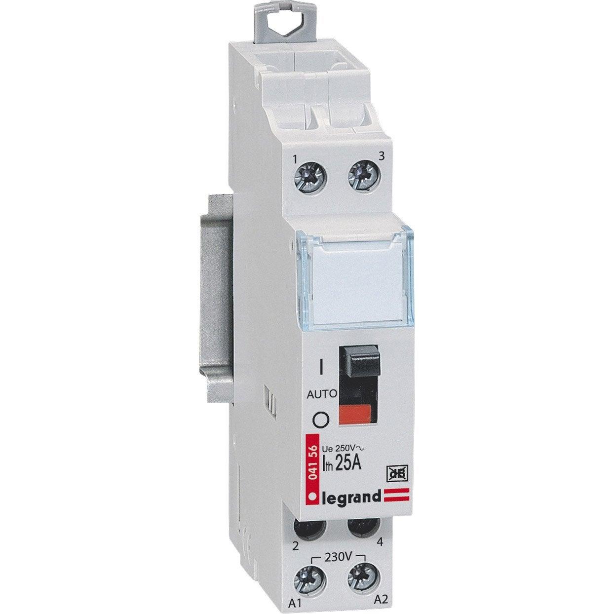 Contacteur legrand 230 v 25 a leroy merlin for Interrupteur exterieur legrand