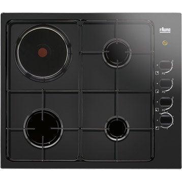 Plaque de cuisson mixte faure fgm62444ba 4 foyers leroy - Plaque de cuisson gaz leroy merlin ...
