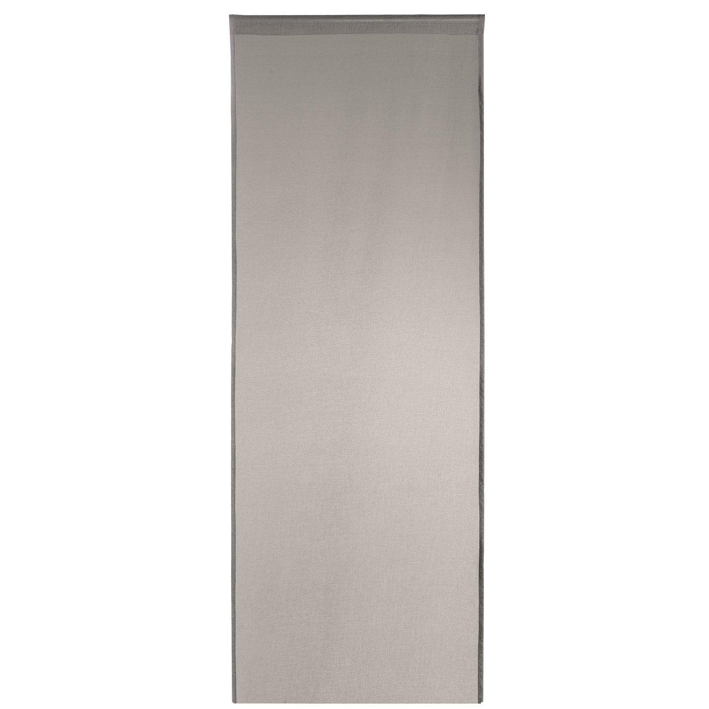 Panneau japonais 5 mondes gris 260 x 50 cm leroy merlin - Panneau coulissant leroy merlin ...