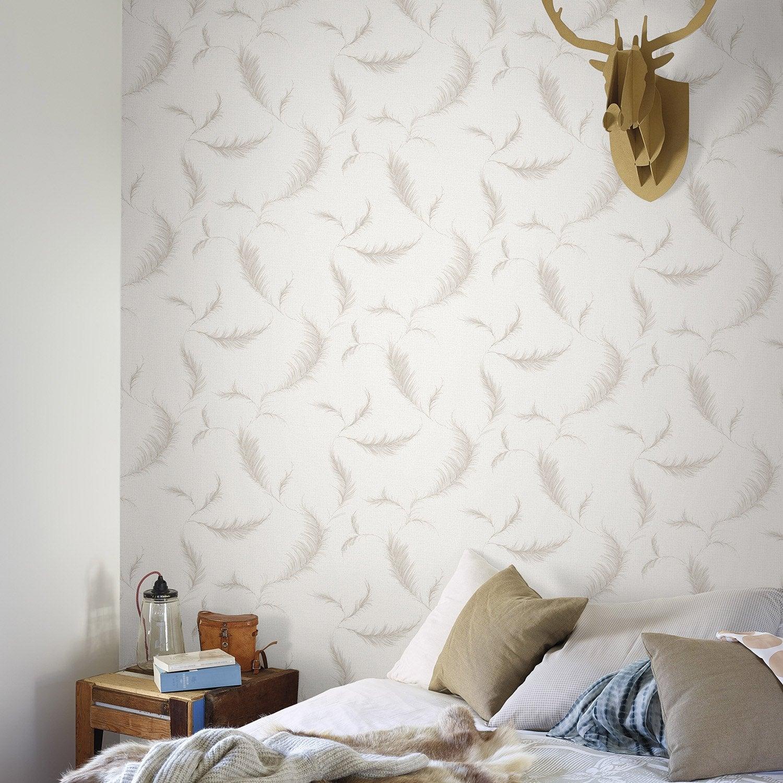 papier peint intiss lucia beige leroy merlin. Black Bedroom Furniture Sets. Home Design Ideas