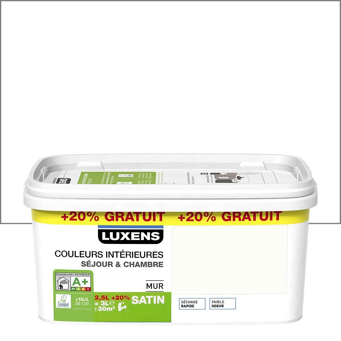 Peinture luxens comparez les prix de leroy merlin brico depot bricoman et weldom for Peinture pour plastique exterieur brico depot
