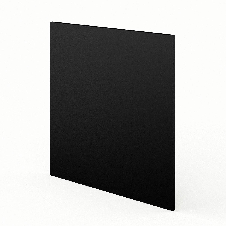 Joue meuble bas de cuisine noir l65 mat edition l65 x h70 for Cuisine noir mat