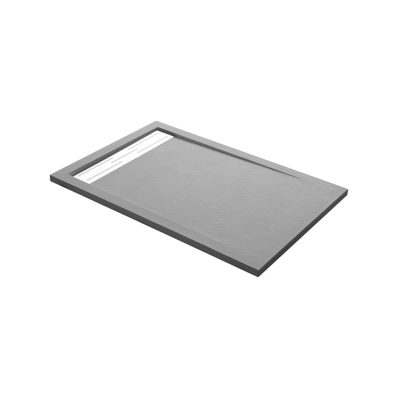 receveur de douche rectangulaire x cm r sine gris urban leroy merlin. Black Bedroom Furniture Sets. Home Design Ideas