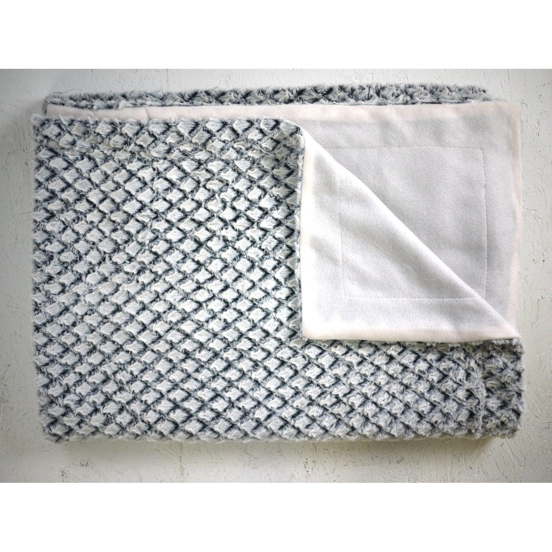 plaid canape gris plaid ba kal gris et blanc x cm leroy merlin