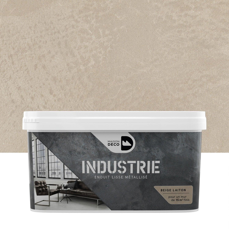 Peinture effet industrie maison deco beige laiton 4 kg leroy merlin - Les decoratives leroy merlin ...