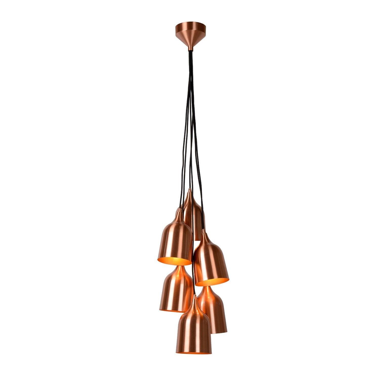 suspension bruno m tal cuivr 6 x 60 w lucide leroy merlin. Black Bedroom Furniture Sets. Home Design Ideas