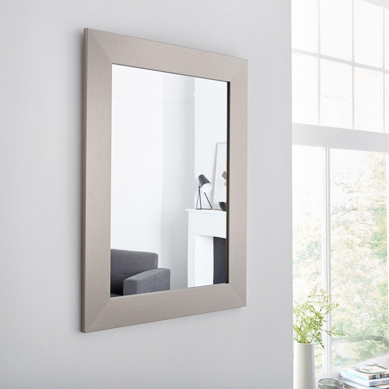 Miroir Design Leroy Merlin #12: Miroir Loft, Acier, L.50 X H.70 Cm ...