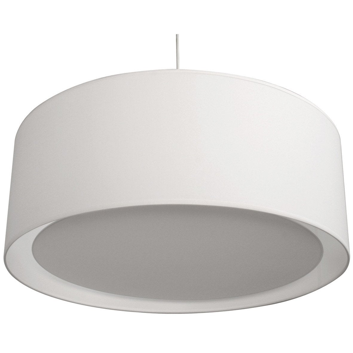 Suspension design essentiel coton blanc blanc n 0 1 x 60 w inspire leroy me - Suspension new york leroy merlin ...