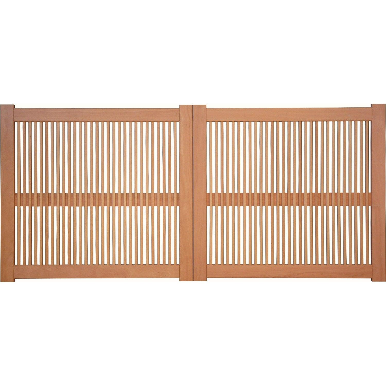 portail battant bois frejus naturel x cm