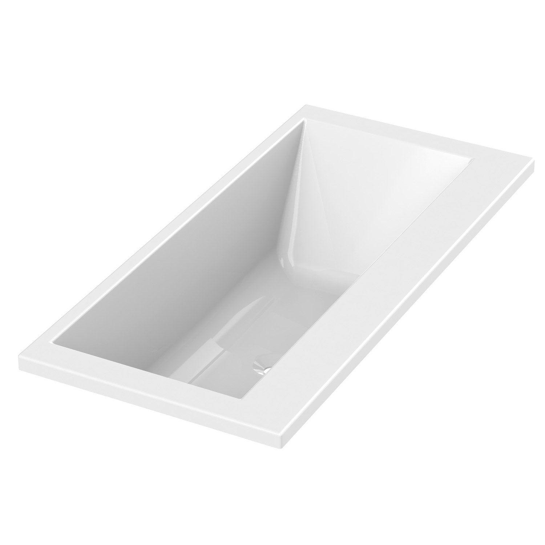 Baignoire rectangulaire cm blanc sensea premium design leroy m - Tablette de baignoire ...