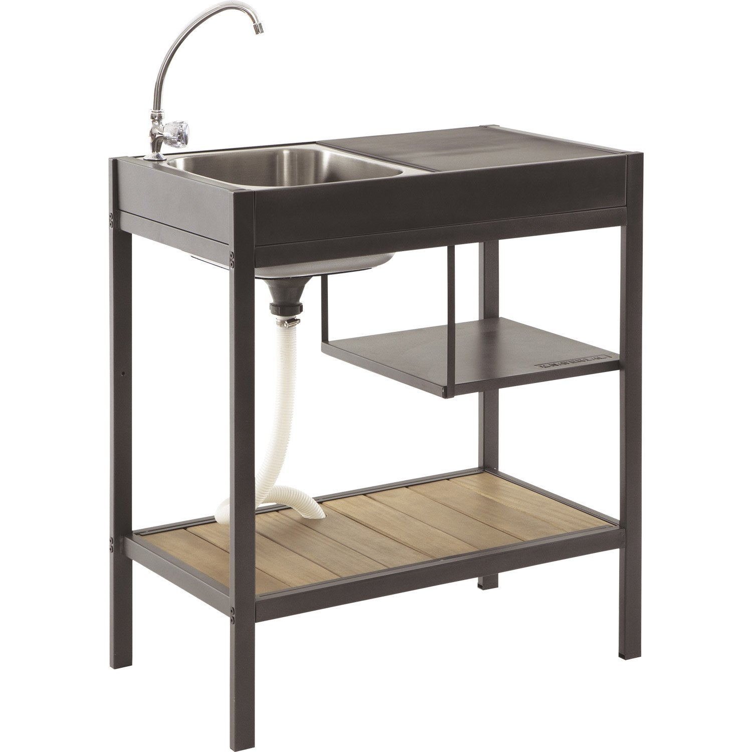 Point d 39 eau naterial cuisine module resort leroy merlin for Lavabo exterieur jardin