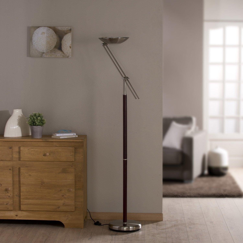 lampadaire deska seynave 180 cm dor 23 w leroy merlin. Black Bedroom Furniture Sets. Home Design Ideas