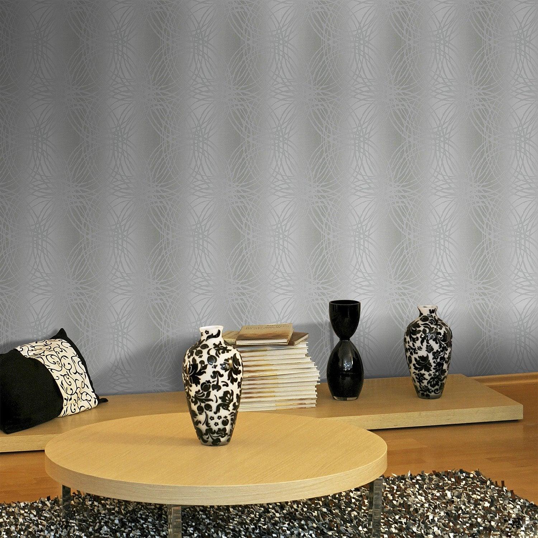 papier peint intiss l o gris leroy merlin. Black Bedroom Furniture Sets. Home Design Ideas