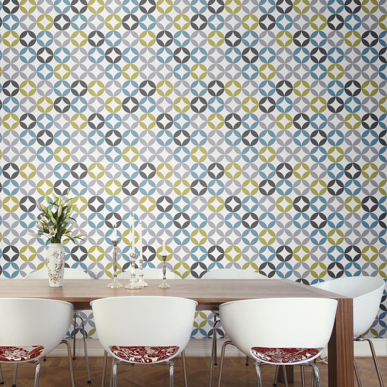 lutece papier peint intisse papier peint beige et blanc. Black Bedroom Furniture Sets. Home Design Ideas