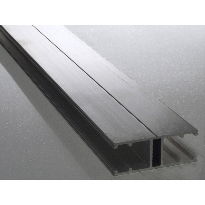 Profil jonction pour plaque ep 16 mm aluminium l 3 m for Plaque plexi leroy merlin