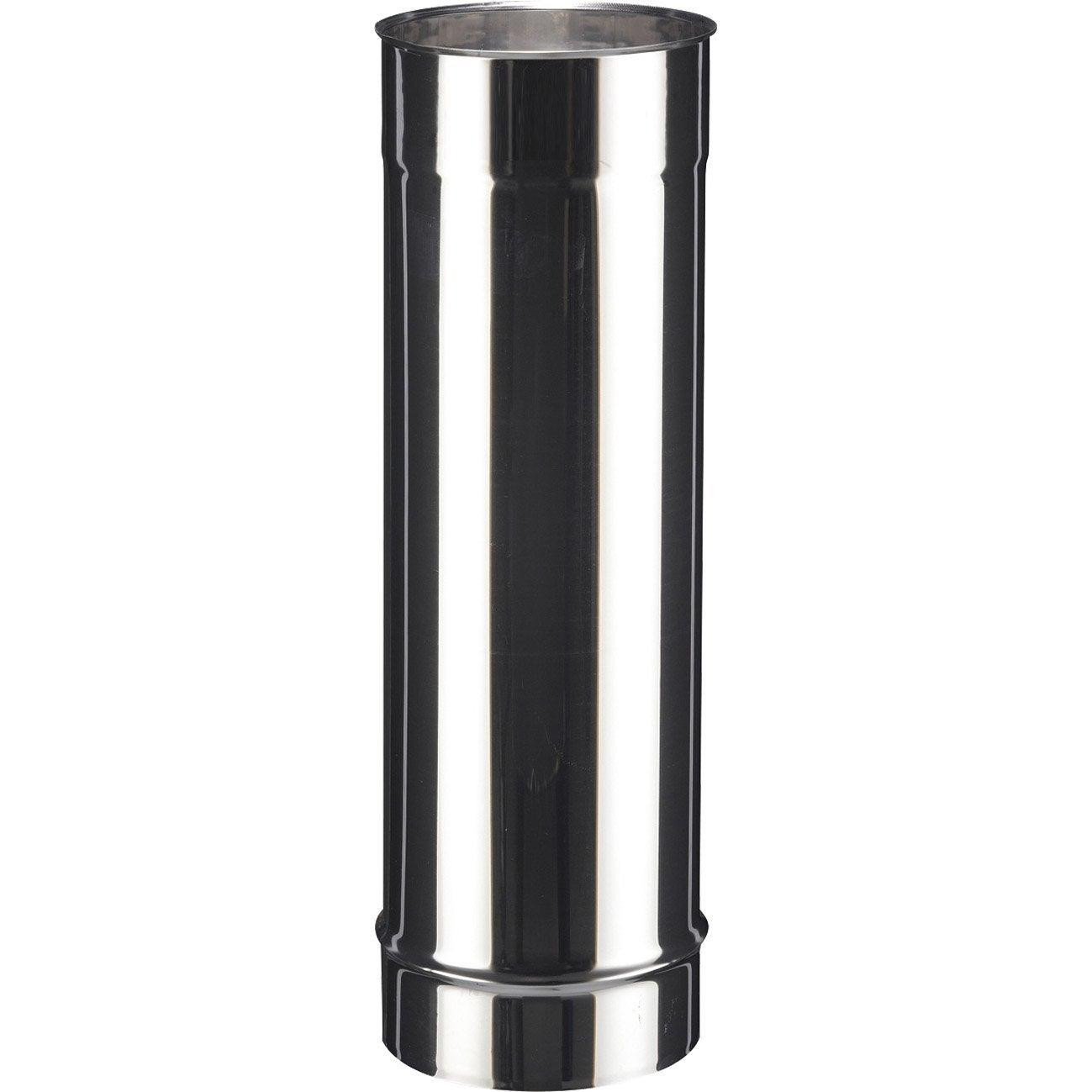tuyau inox de raccordement poujoulat diam 110 mm 50 cm leroy merlin. Black Bedroom Furniture Sets. Home Design Ideas