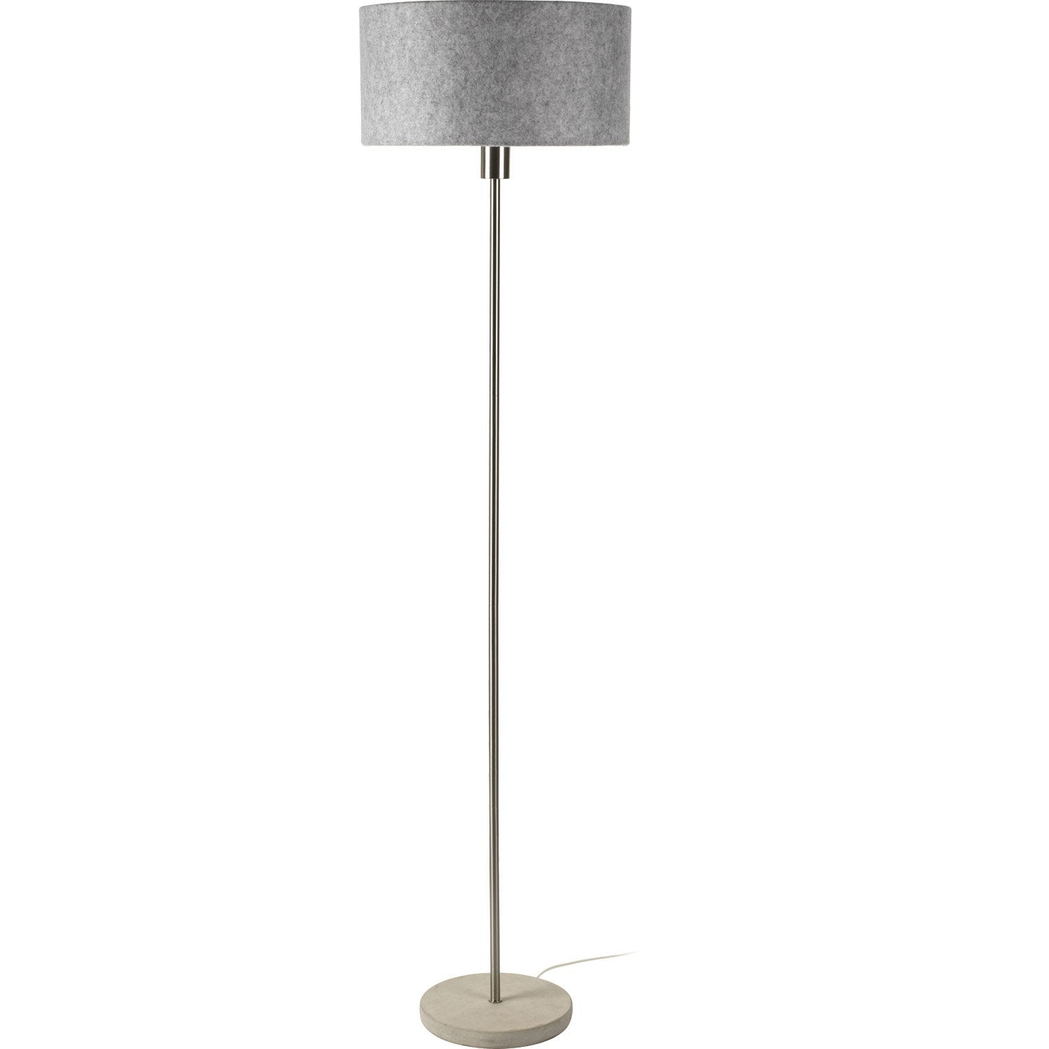 lampadaire felty 160 cm gris 60 w leroy merlin. Black Bedroom Furniture Sets. Home Design Ideas