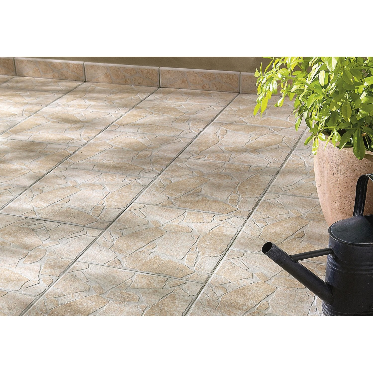 Carrelage sol beige effet pierre opus x cm for Carrelage rose