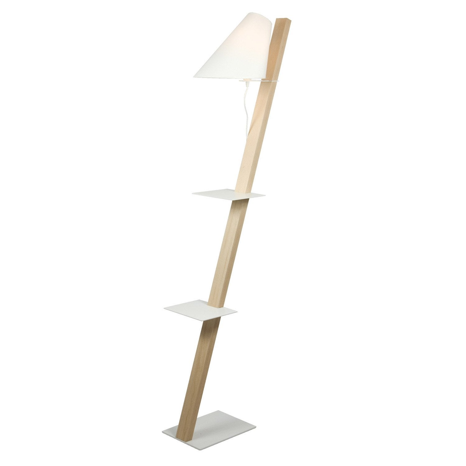 lampadaire vega 168 cm blanc 60 w leroy merlin. Black Bedroom Furniture Sets. Home Design Ideas