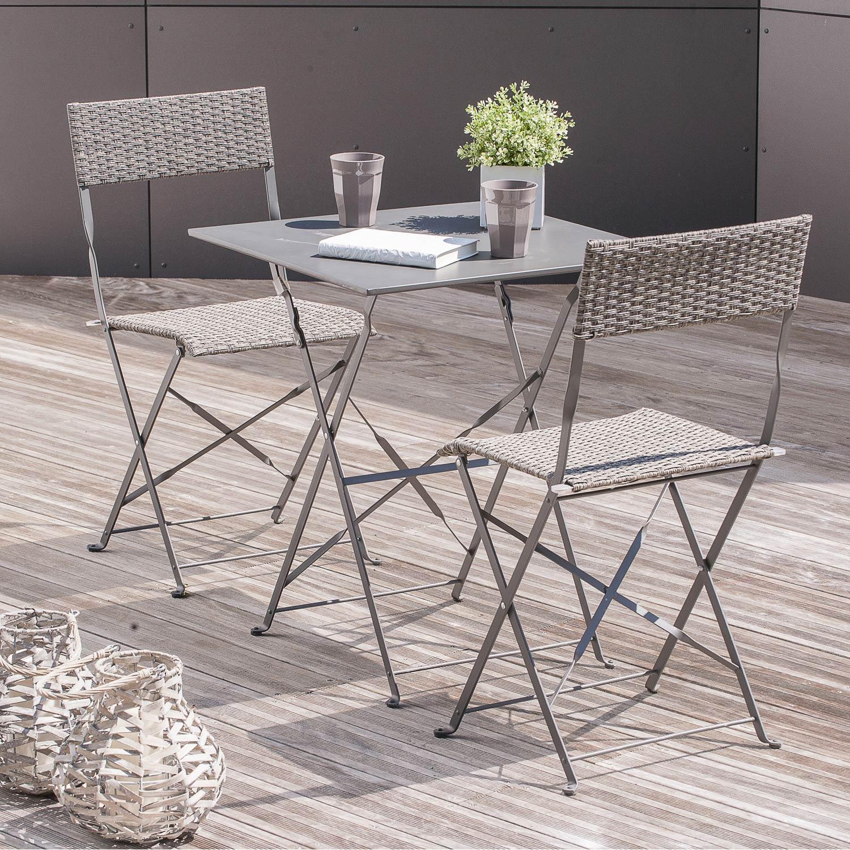 Beautiful Table De Jardin Aluminium Ou Acier Amazing