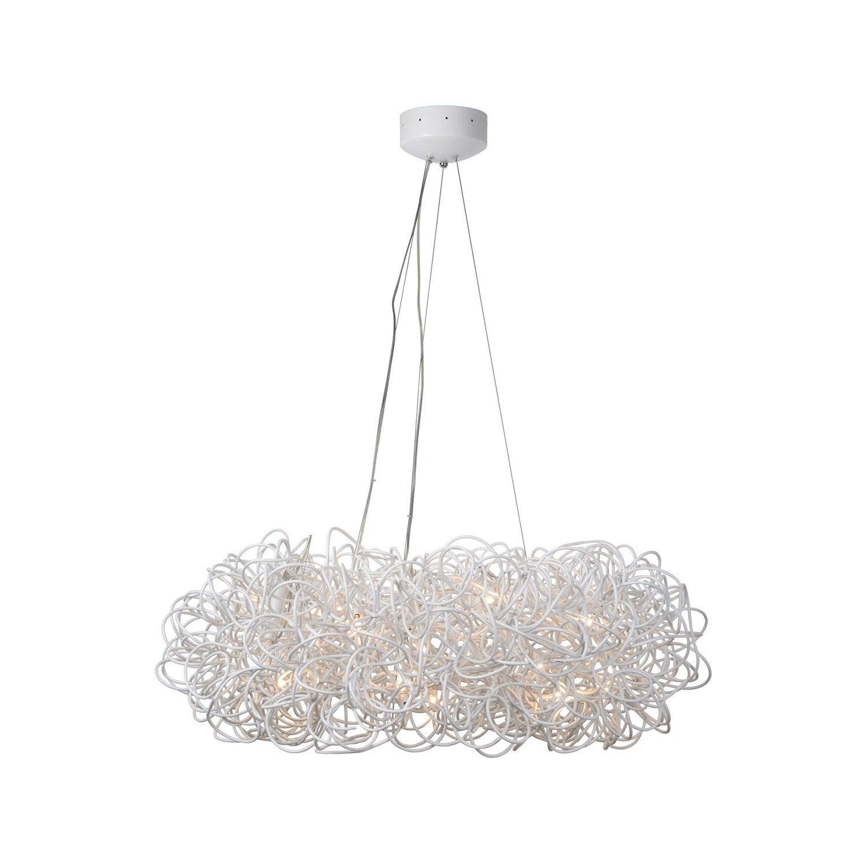 suspension g4 galil o aluminium blanc 14 x 20 w lucide leroy merlin. Black Bedroom Furniture Sets. Home Design Ideas