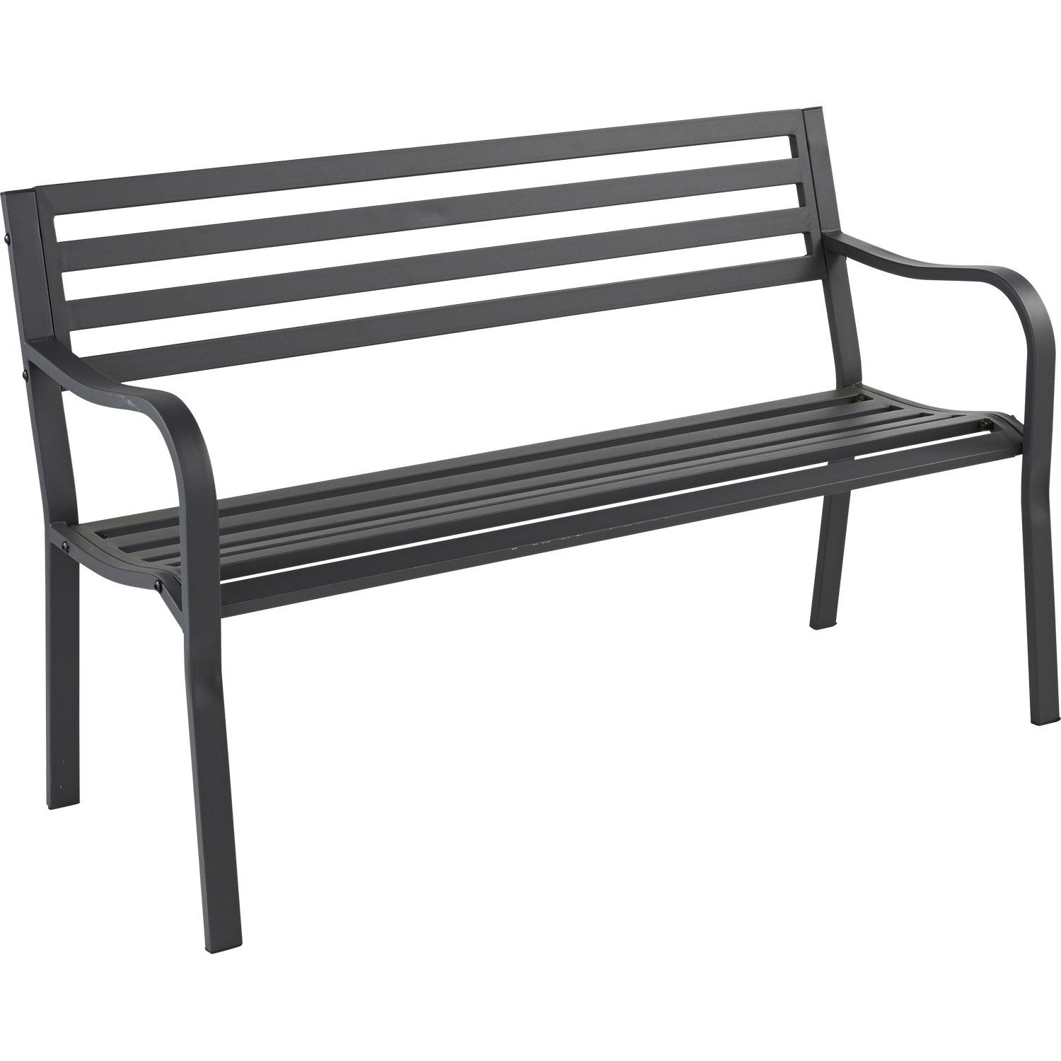 banc 3 places de jardin en tissu gris leroy merlin. Black Bedroom Furniture Sets. Home Design Ideas