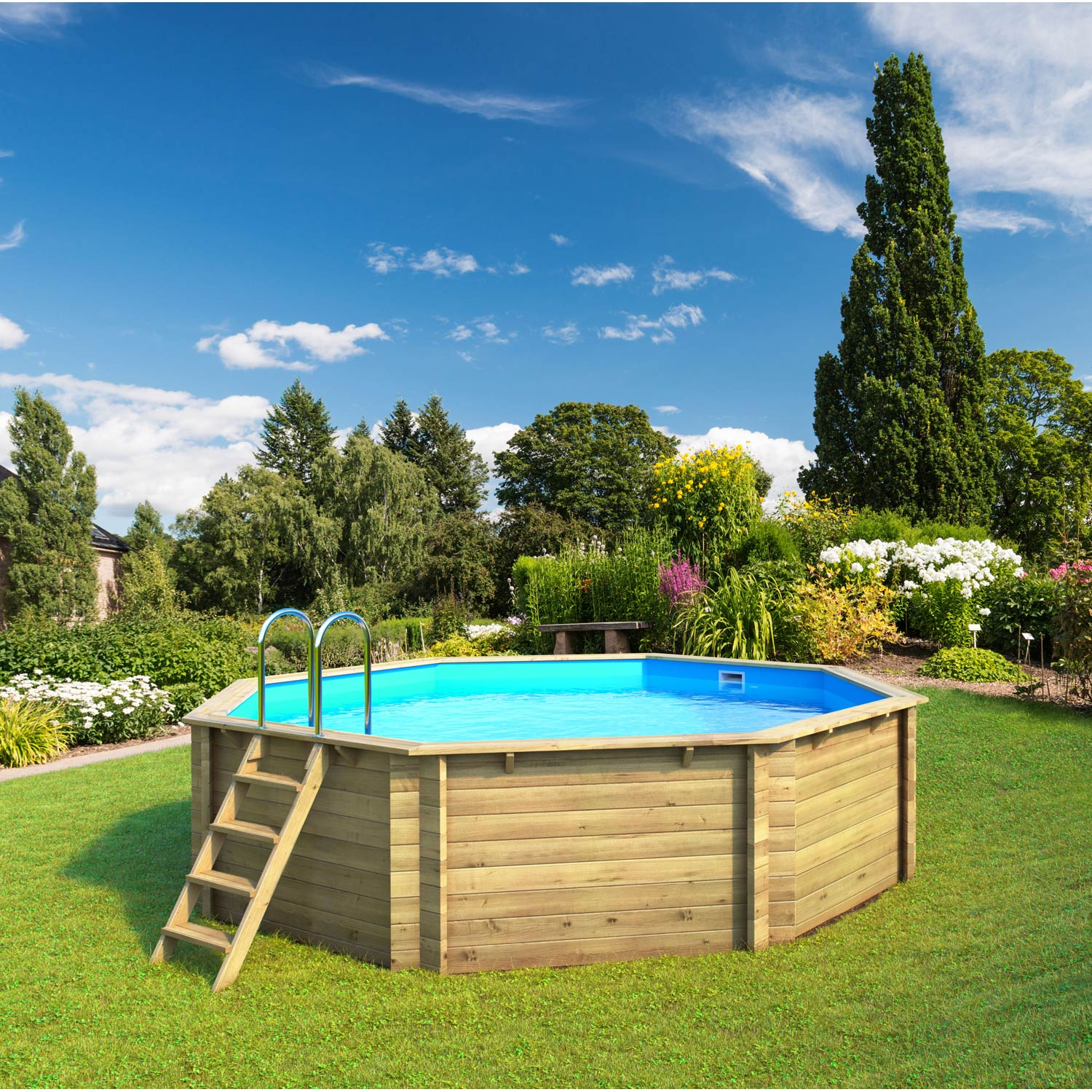 Piscine hors sol bois tropic proswell by procopi l x for Piscine hors sol legislation
