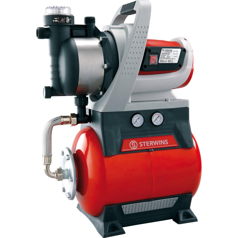 Pompe d 39 alimentation automatique sterwins sp1100 2 d bit for Pompe piscine hors sol leroy merlin
