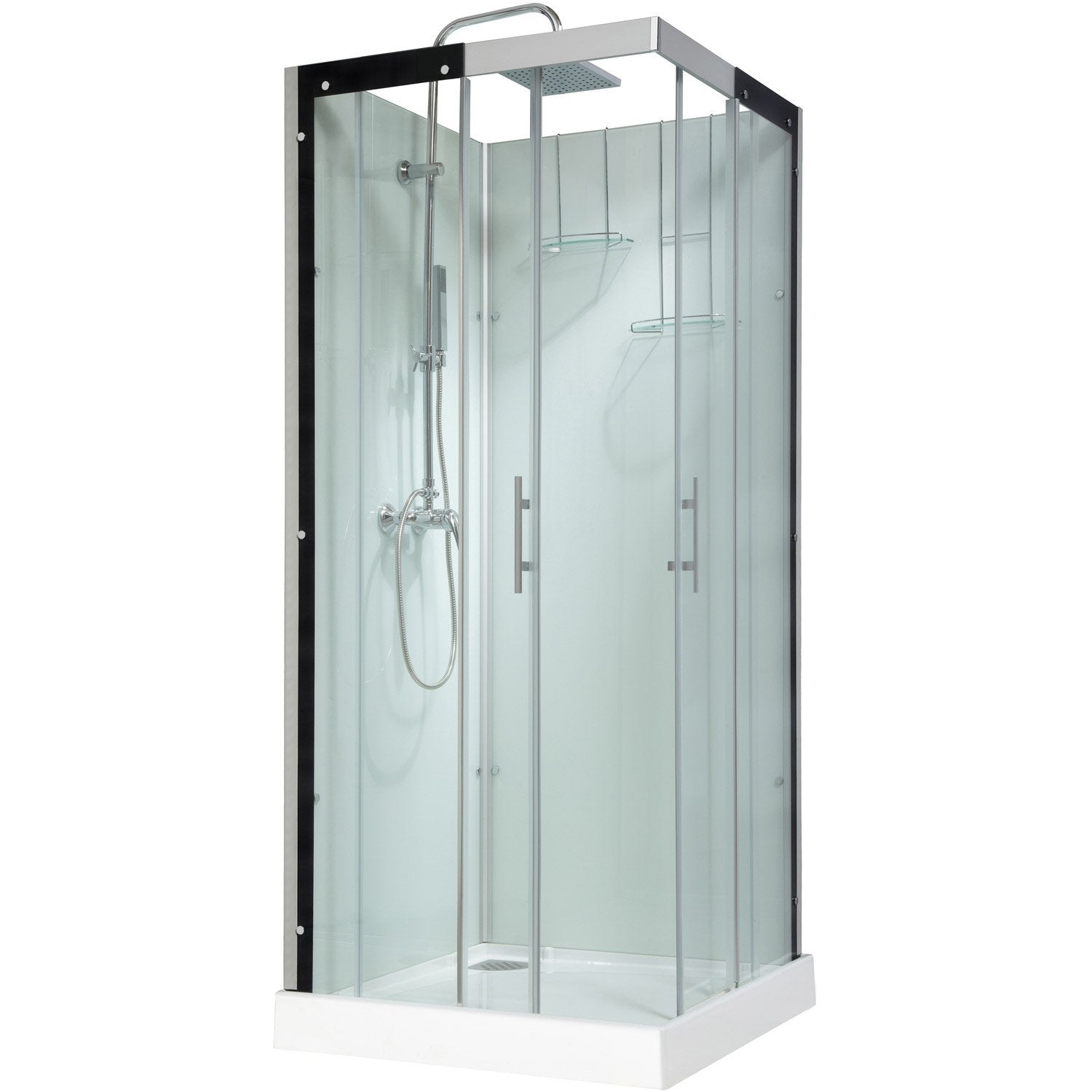 cabine de douche carr 90x90 cm thalaglass 2 mitigeur. Black Bedroom Furniture Sets. Home Design Ideas