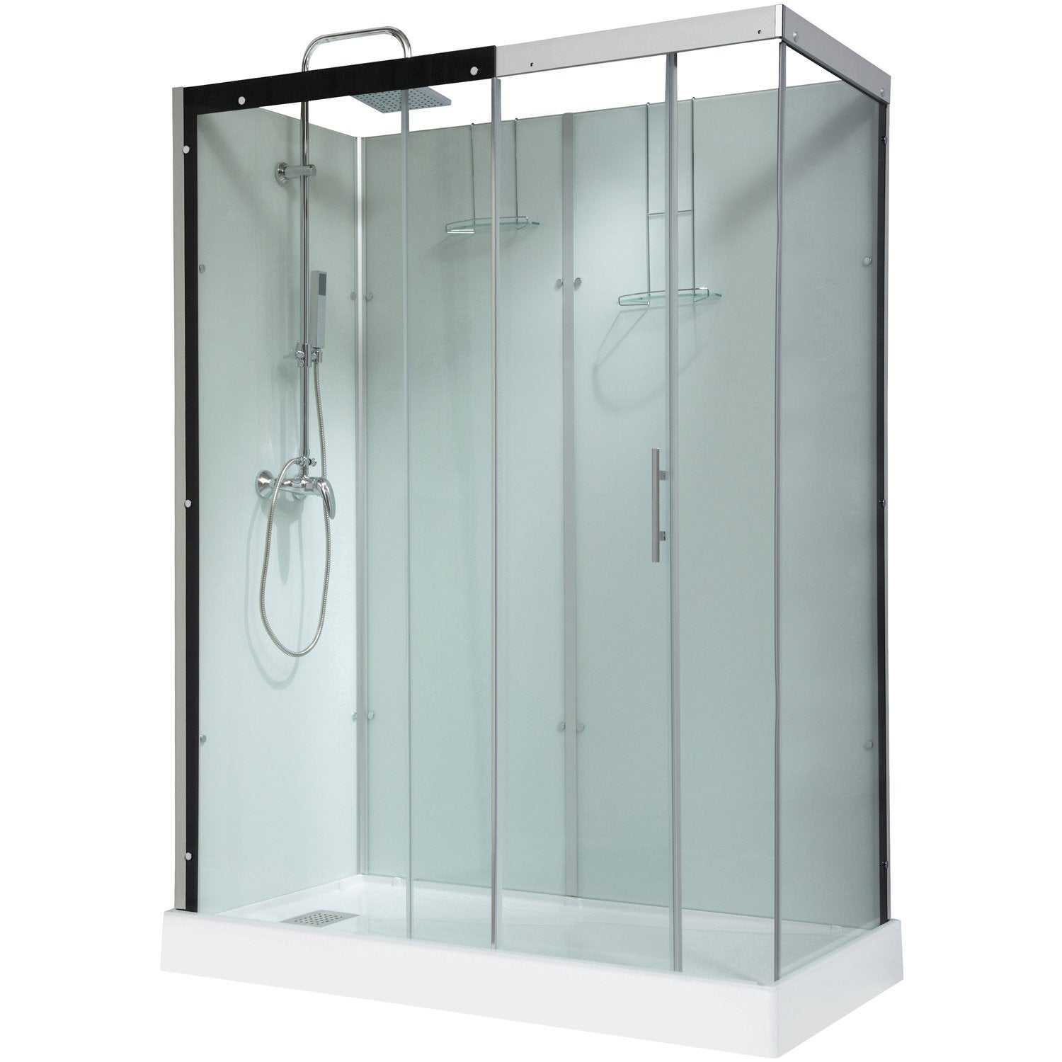 Cabine douche 70x70 for Porte 70 cm leroy merlin