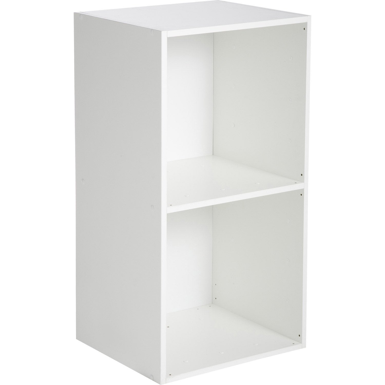 Etag re 2 cases multikaz blanc x x cm leroy merlin - Cube de rangement avec porte ...