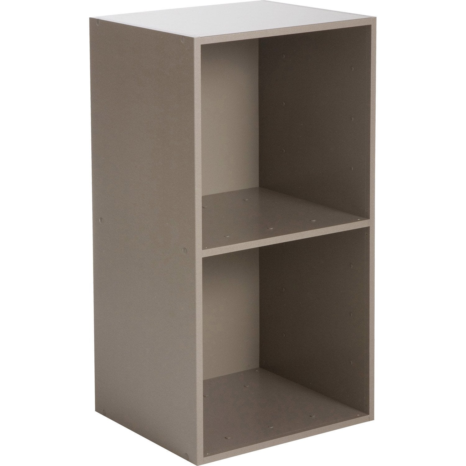 Etag re 2 cases multikaz taupe x x - Etagere chaussure leroy merlin ...
