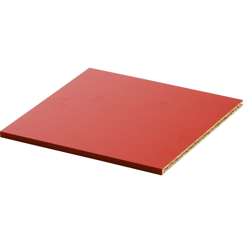 tablette multikaz rouge h 1 2 x x cm leroy merlin. Black Bedroom Furniture Sets. Home Design Ideas