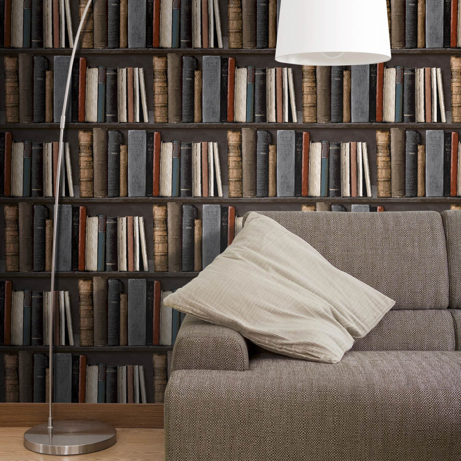 papier peint intiss bibliotek multicouleur leroy merlin. Black Bedroom Furniture Sets. Home Design Ideas