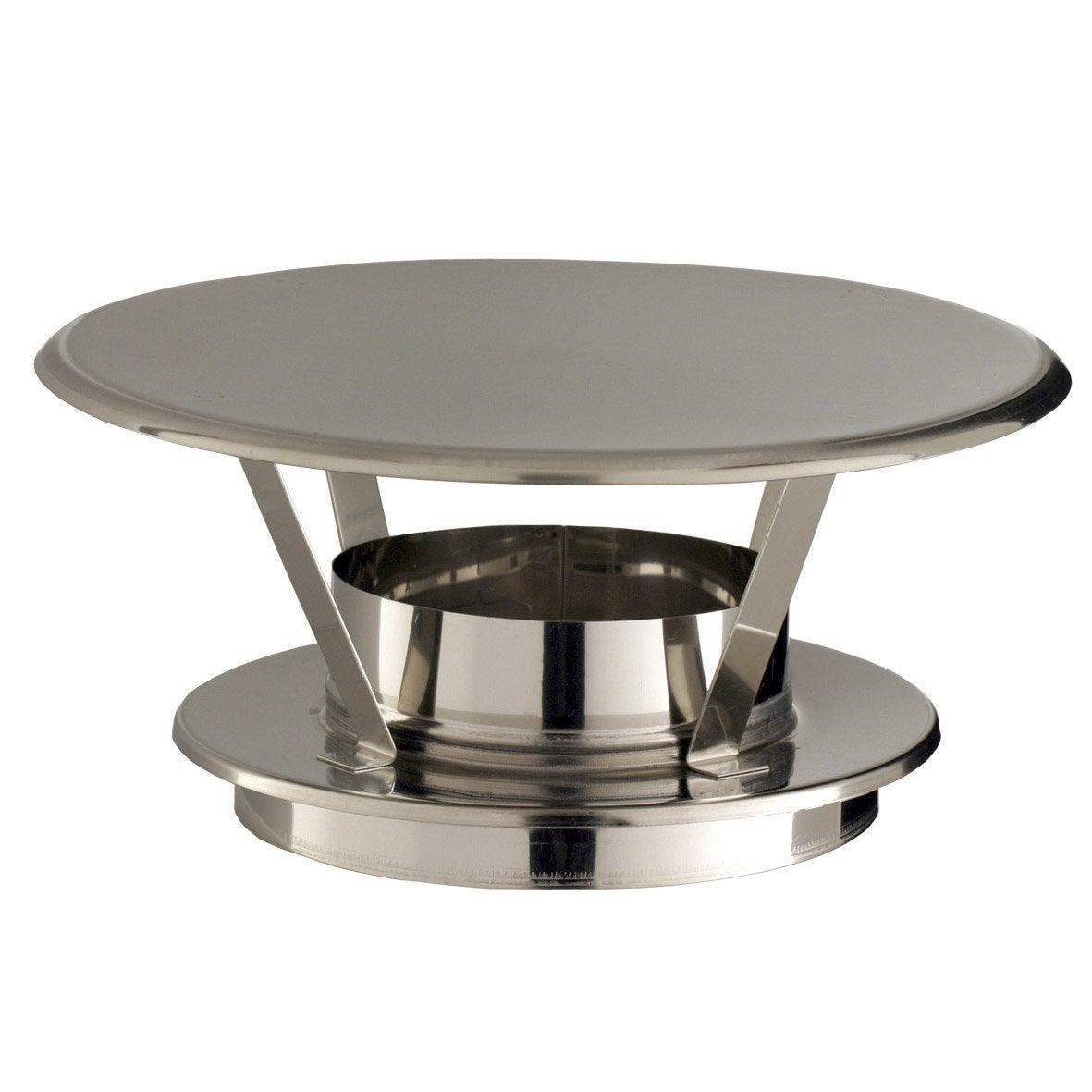 Chapeau pare pluie simple poujoulat 150 mm leroy merlin for Chapeau pour cheminee exterieur