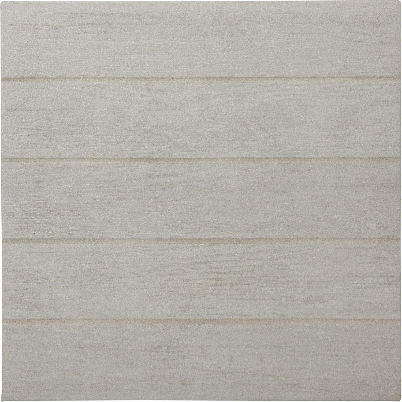 carrelage blanc effet bois teak x cm leroy merlin. Black Bedroom Furniture Sets. Home Design Ideas