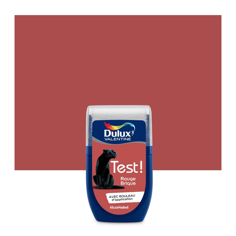 Testeur peinture rouge brique DULUX VALENTINE Crème de