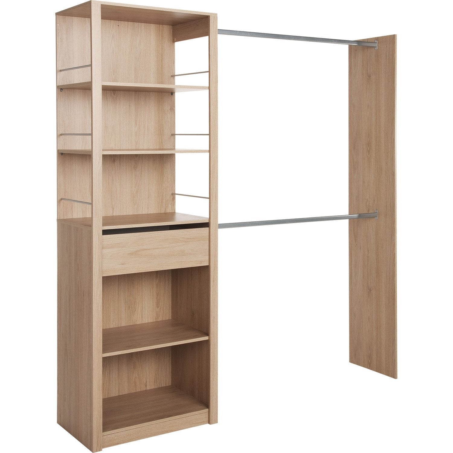 caisson armoire leroy merlin awesome barre de penderie escamotable gris h x l x p leroy merlin